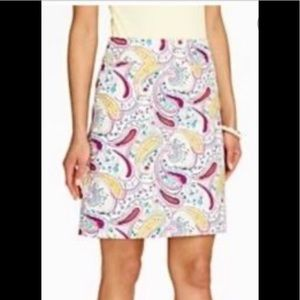 Talbots paisley pencil skirt 12 petite